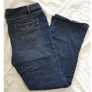 LOFT dark wash slim boot jeans, 14, tall